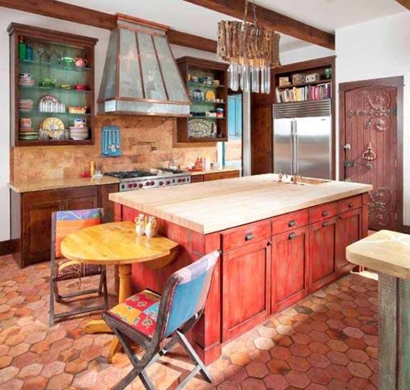 彩色厨房装修设计图