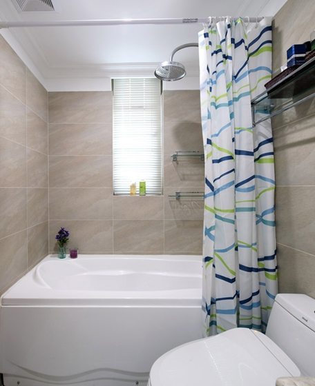 130平三居室装修卫生间图片