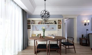 130平三居室装修餐厅效果图