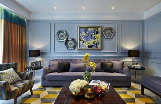 简约美式风格装修客厅效果图