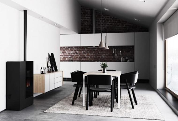 黑白色经典餐厅图片