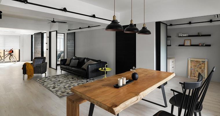舒适三居室装修实木餐桌