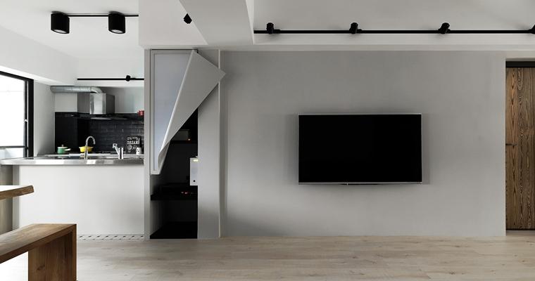 舒适三居室装修电视背景墙图片