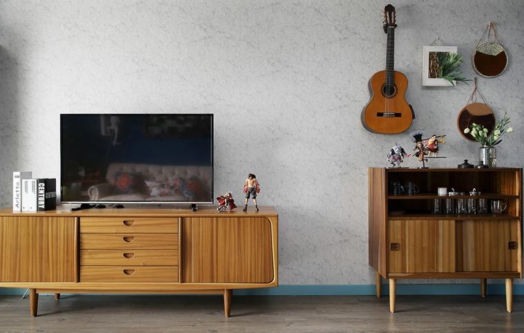 东南亚风格装修电视柜图片