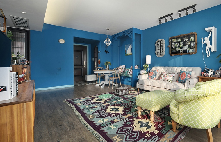 东南亚风格装修客厅地毯