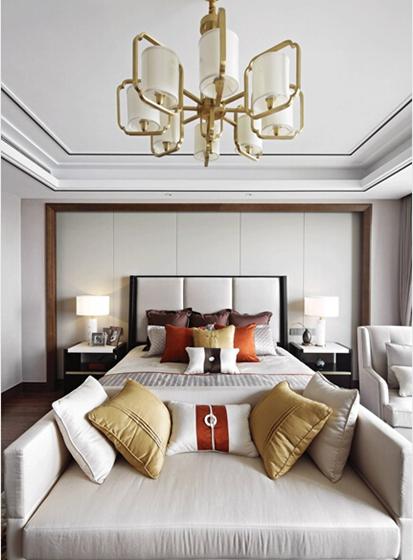 新中式风格大户型装修卧室效果图