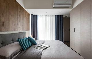 灰黑调三居室装修卧室效果图