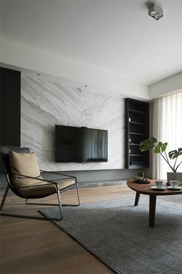简约风格三居室电视背景墙