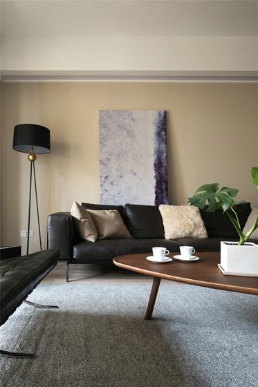 简约风格三居室客厅地毯