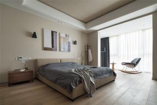 简约风格三居室大卧室装潢图