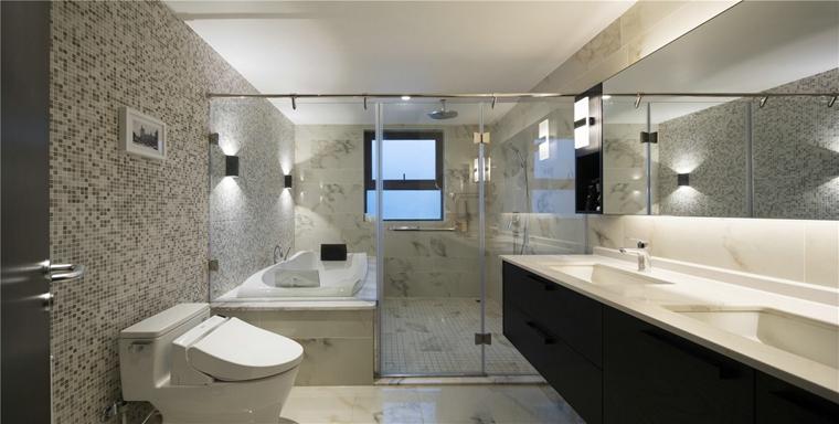 简约风格三居室卫生间图片