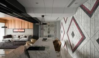 工业风大平层设计墙面装饰