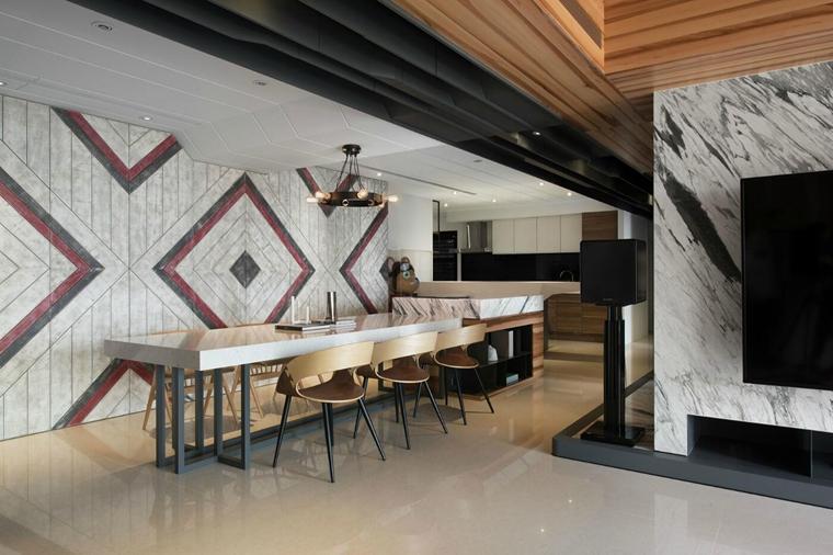 工业风大平层设计餐厅效果图