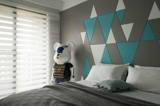 工业风大平层设计卧室效果图