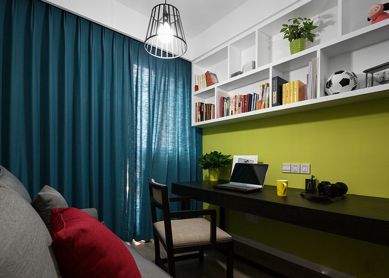 88平的幸福空间书房效果图