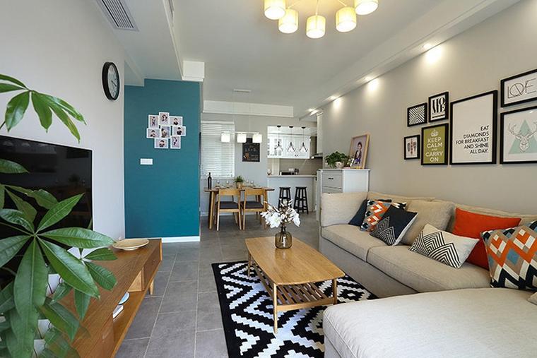 50平小户型房屋装修客厅效果图