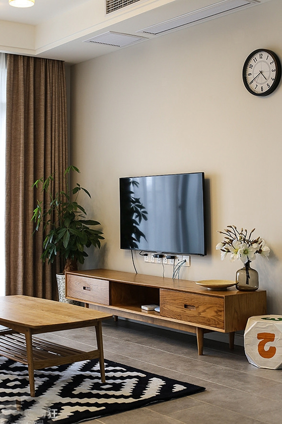 50平小户型房屋装修电视柜图片