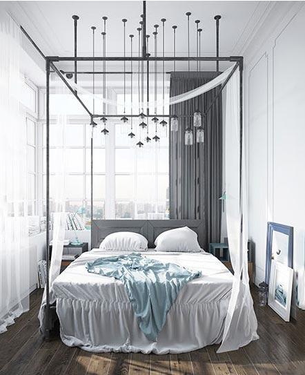 现代风格卧室构造图片