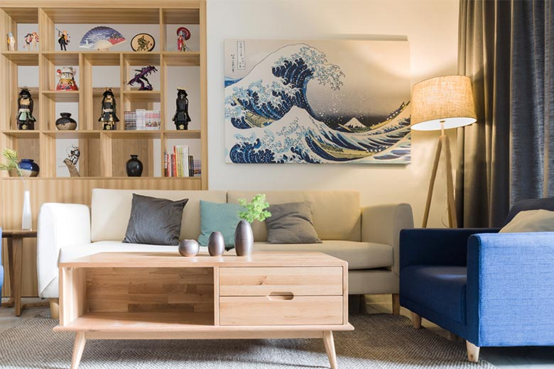 73㎡日式家装设计客厅图