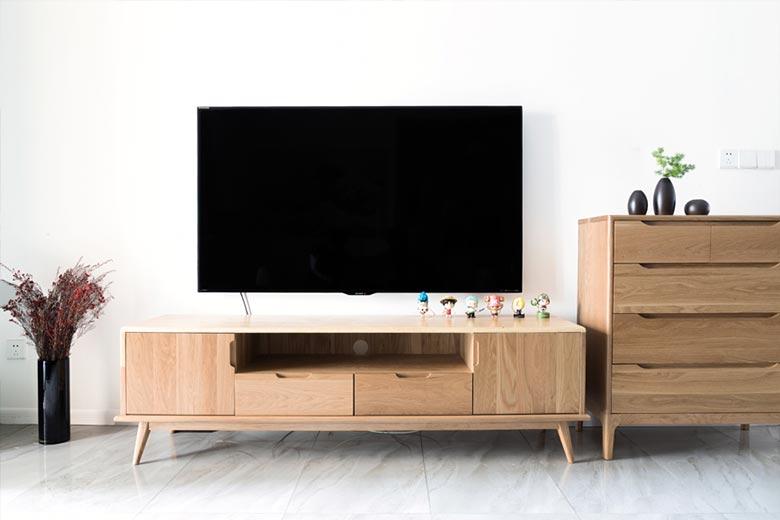73㎡日式家装设计电视柜平面图