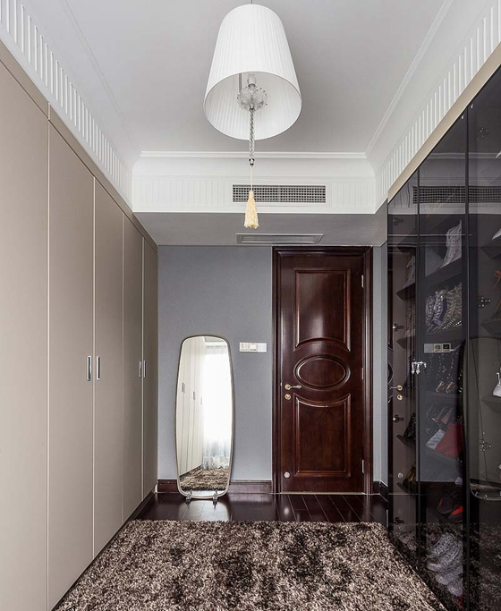 130平简约风格三居室衣帽间图片