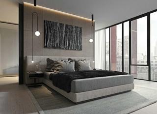 洁净空间大户型装修卧室效果图