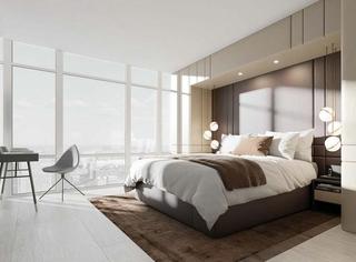 洁净空间大户型装修大卧室装潢图