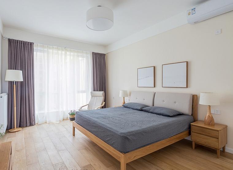 日式风格三居室装修卧室效果图