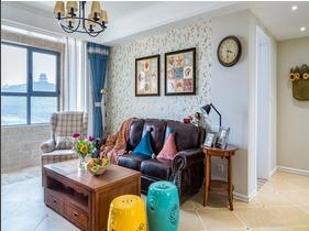 110平三居室装修 享受色彩的盛宴