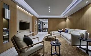 120平现代简约风格装修客厅效果图