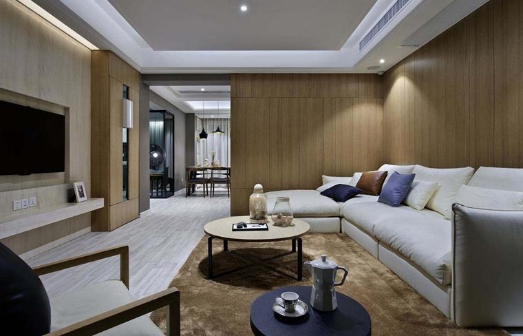120平现代简约风格装修客厅沙发