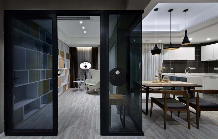 120平现代简约风格装修餐厅吊灯