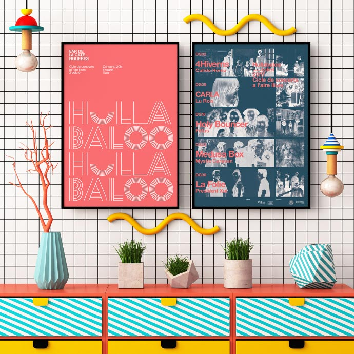 波普风背景墙设计布置图