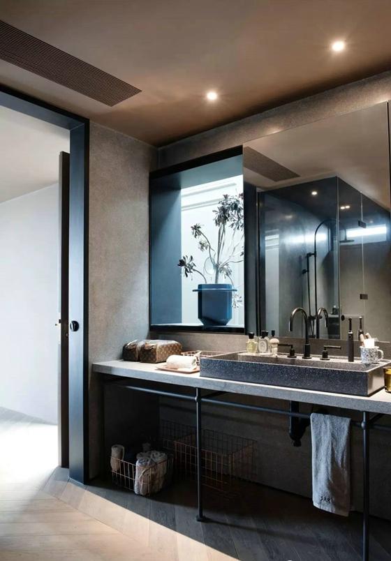 工业风格公寓装修卫生间图片