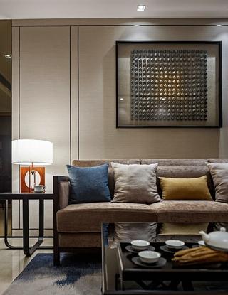 20万搞定三居室装修布艺沙发图片