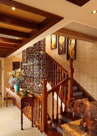 异域风格大户型装修楼梯图片