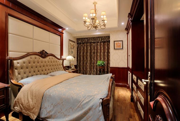 浓墨重彩的欧式风格装修卧室效果图