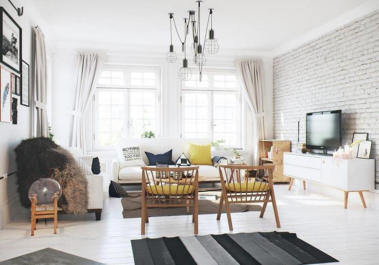 小户型复式装修客厅实景图