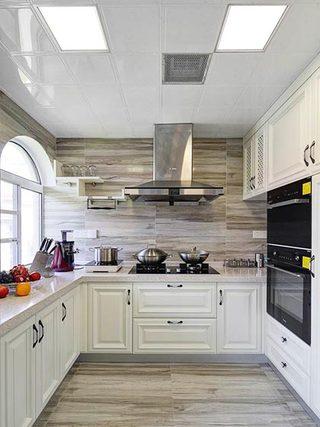 开放式厨房设计平面图