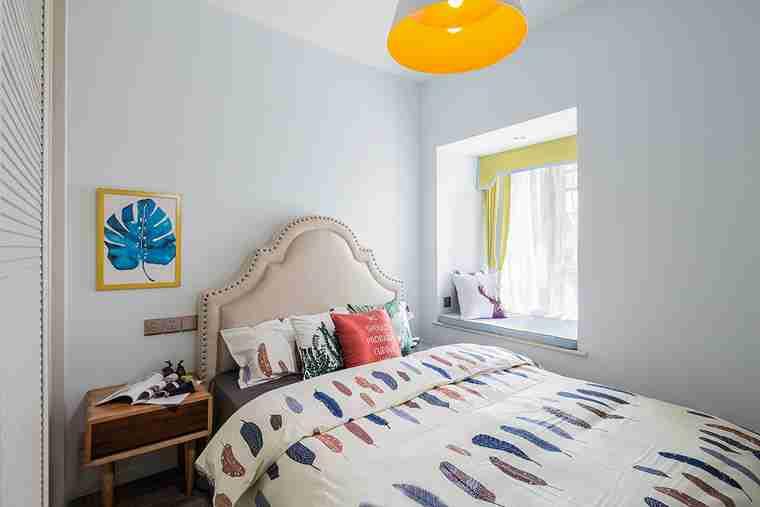 85平宜家风格装修小卧室装潢图