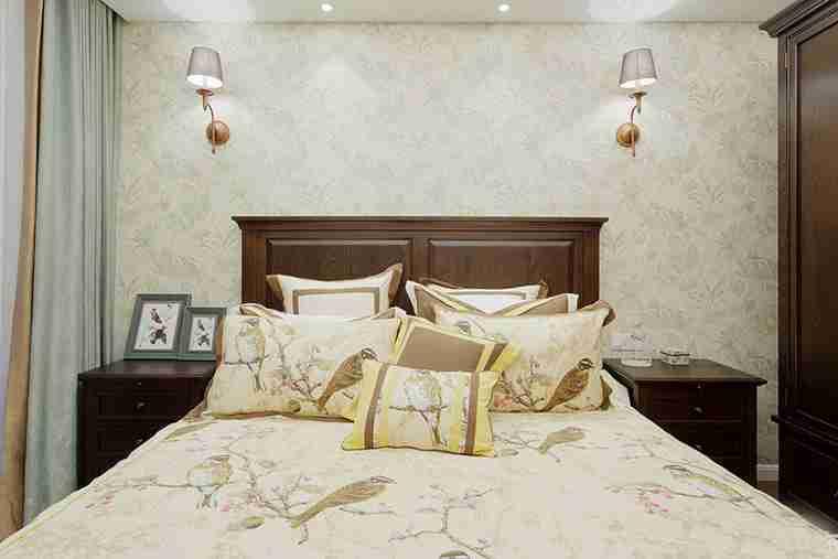 90平美式风格装修小卧室图片-装修效果图案例 2018年装修效果图 齐家