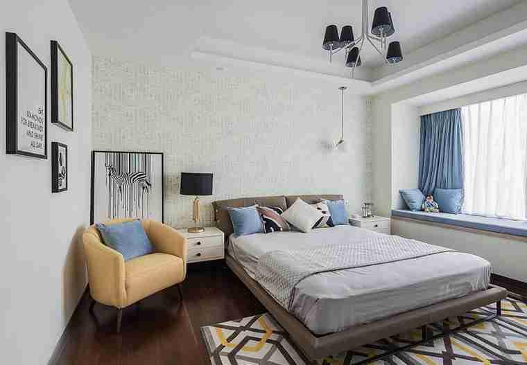 温润如玉的三居室装修次卧效果图