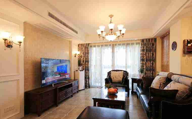 100平两居室装修客厅效果图
