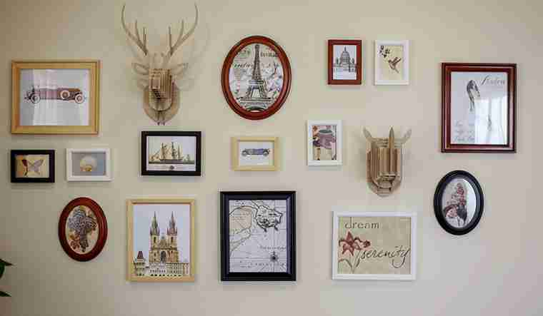 120平三居室装修照片墙