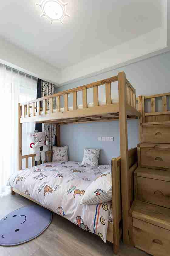 90平三居室装修儿童房效果图