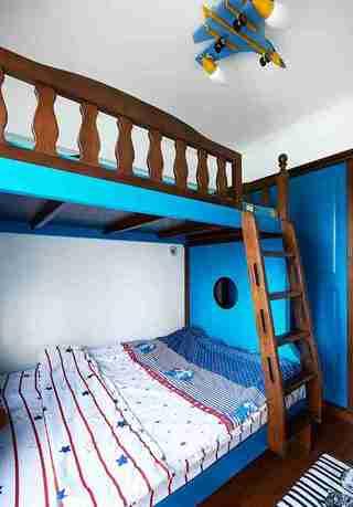 蓝调两居室装修儿童房效果图