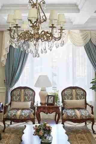 联排别墅样板间装修客厅水晶灯