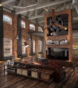 客厅复古装修欣赏图