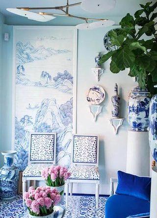 家装壁纸墙设计实景图