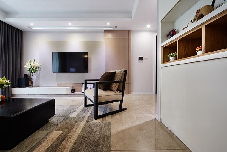简约优雅三居室装修单人沙发